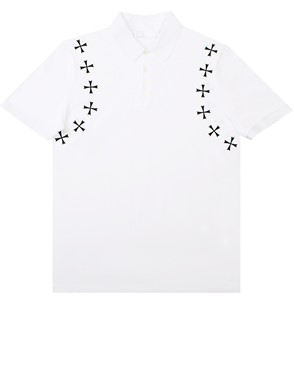 NEIL BARRETT - WHITE POLO SHIRT
