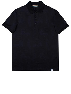 VERSACE COLLECTION - BLACK POLO SHIRT