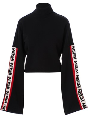 MSGM - BLACK SHORT SWEATSHIRT
