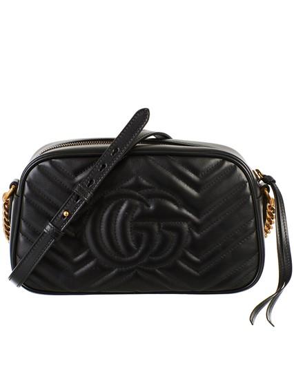 28e7fef6233109 gucci BLACK SMALL GG MARMONT BAG available on lungolivigno.com - 25727