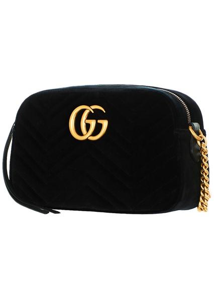 da63112dd9be6c gucci BLACK VELVET SMALL GG MARMONT BAG available on lungolivigno ...