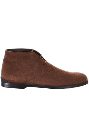 TOD'S - BROWN CASUAL LACED BOOTS