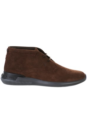 TOD'S - BROWN SPORTS LACED BOOTS