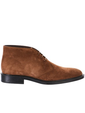 TOD'S - BROWN LACED BOOTS