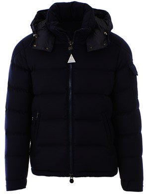 MONCLER - SHORT DOWN JACKET WITH WOOL HOOD