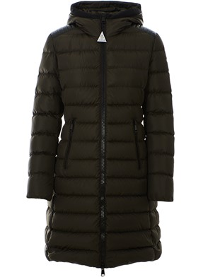 MONCLER - LONG DOWN JACKET WITH NYLON HOOD