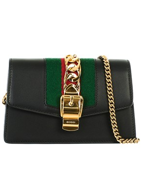 GUCCI - BLACK MINI SYLVIE BAG
