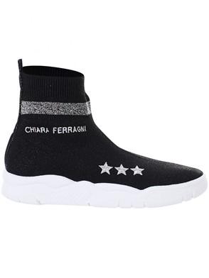 CHIARA FERRAGNI - BLACK SOCK SNEAKERS