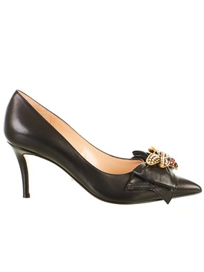 GUCCI - BLACK PUMPS WITH BOW