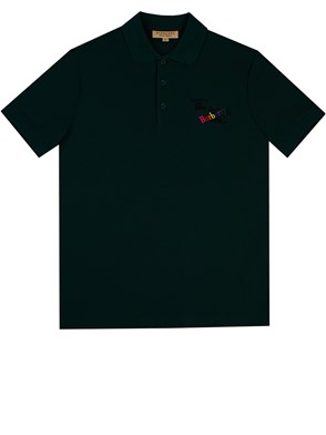 BURBERRY - GREEN SHORT SLEEVE POLO SHIRT