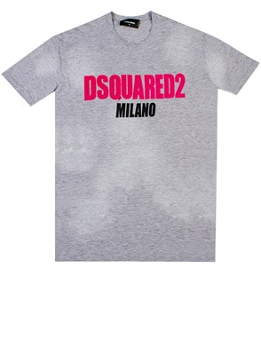 D.SQUARED - GREY T-SHIRT