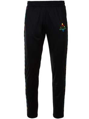 MARCELO BURLON COUNTY OF MILAN - BLACK JOGGING KAPPA PANTS