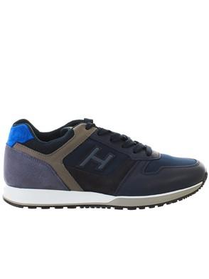 HOGAN - SNEAKER H321 BLU E GRIGIA