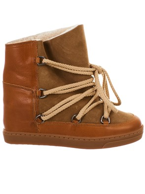 ISABEL MARANT - SNOWBOOT NOWLES MARRONE
