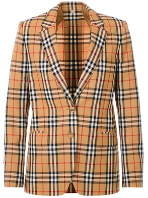 BURBERRY - BROWN SNOWDON BLAZER