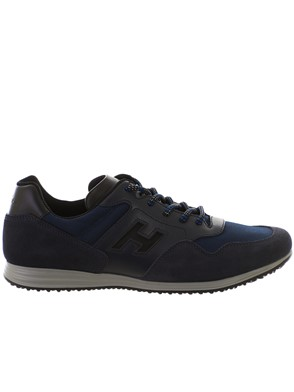 HOGAN - BLACK AND BLUE OLYMPIA X H205 SNEAKERS