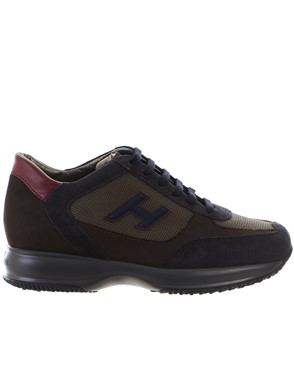 HOGAN - BLUE AND BROWN NEW INTERACTIVE SNEAKERS