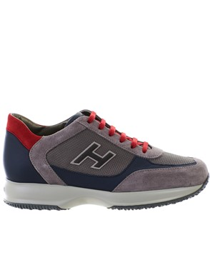 HOGAN - BLUE AND GREY NEW INTERACTIVE SNEAKERS