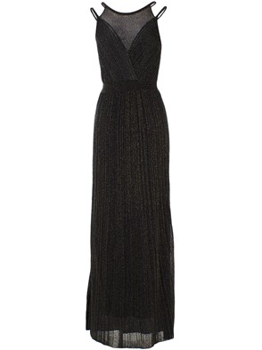 M MISSONI - BLACK AND GOLD LUREX DRESS