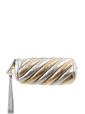 ANYA HINDMARCH - GOLD AND SILVER MARSHMALLOW CLUTCH