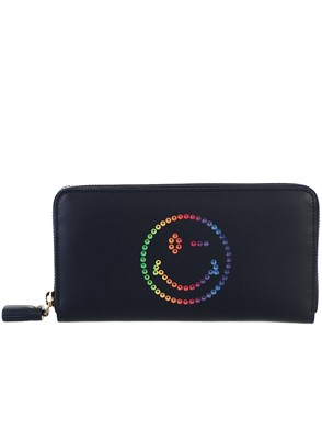 ANYA HINDMARCH - BLUE WALLET
