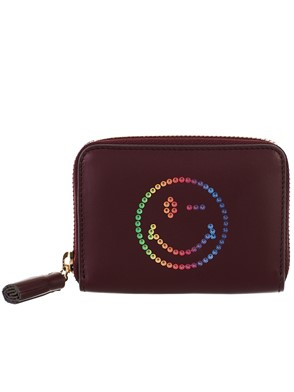 ANYA HINDMARCH - BURGUNDY WALLET