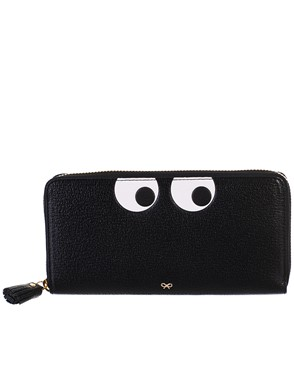 ANYA HINDMARCH - BLACK WALLET
