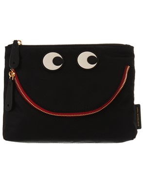 ANYA HINDMARCH - BLACK POUCH