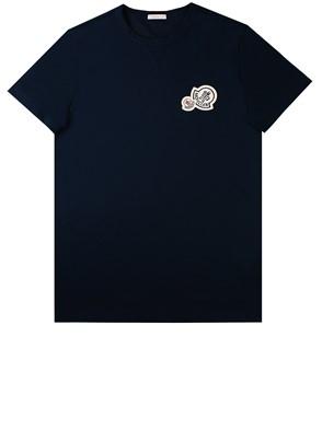 MONCLER - BLUE T-SHIRT