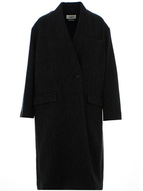 ISABEL MARANT - BLACK HENLO COAT