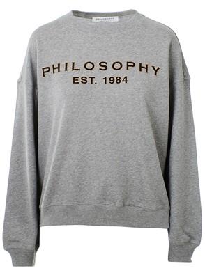 PHILOSOPHY - FELPA LOGO GRIGIA
