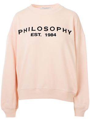 PHILOSOPHY - FELPA LOGO ROSA