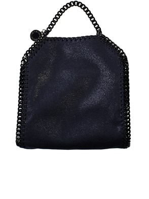 STELLA MC CARTNEY - BLUE TINY FALABELLA CROSS BODY BAG