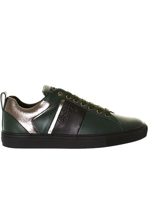 VERSACE - LEATHER SNEAKERS