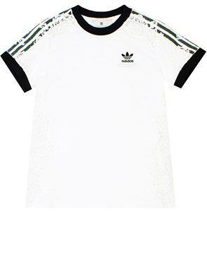 STELLA MC CARTNEY - T-SHIRT ADIDAS PIZZO BIANCA