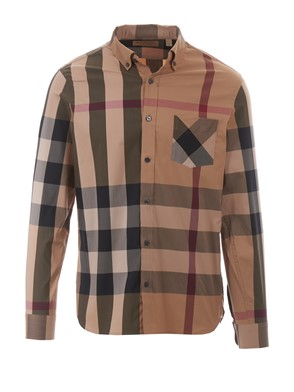 BURBERRY - BROWN THORNABY SHIRT
