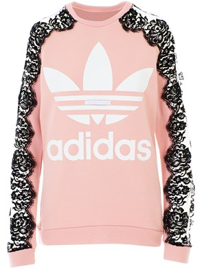 STELLA MC CARTNEY - FELPA PIZZO ADIDAS ROSA