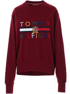 HILFIGER COLLECTION - FELPA LOGO BORDEAUX