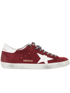 GOLDEN GOOSE DELUXE BRAND - RED AND WHITE SUPERSTAR SNEAKERS