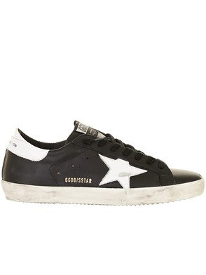 GOLDEN GOOSE DELUXE BRAND - BLACK AND WHITE SUPERSTAR SNEAKERS