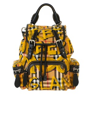 BURBERRY - BROWN AND YELLOW BACKPACK
