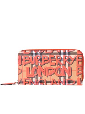 BURBERRY - BROWN AND RED WALLET