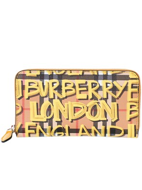 BURBERRY - BROWN AND YELLOW WALLET