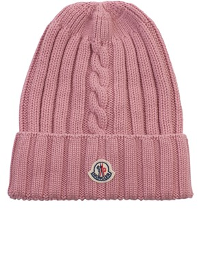 MONCLER - ANTIQUE PINK BEANIE
