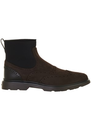 HOGAN - BROWN CHELSEA BOOTS