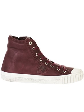 PHILIPPE MODEL - BURGUNDY GARE SNEAKERS