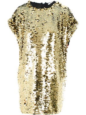 MSGM - GOLD SEQUINED DRESS