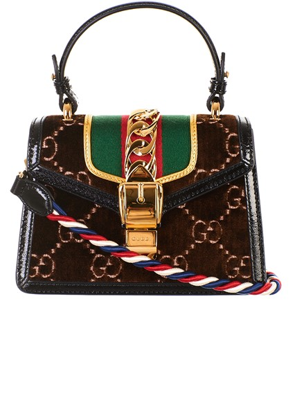 gucci BORSA MINI SYLVIE MARRONE available on lungolivigno.com - 26247 47bd797fd5e7