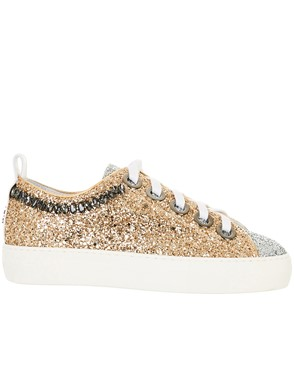 N21 - GOLD AND SILVER GLITTER SNEAKERS
