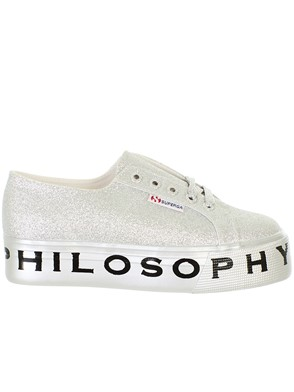 PHILOSOPHY BY LORENZO SERAFINI - SILVER SNEAKERS